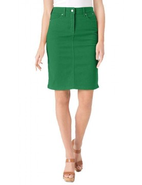 NYDJ - Emma Twill Pencil Skirt - Clover *30561