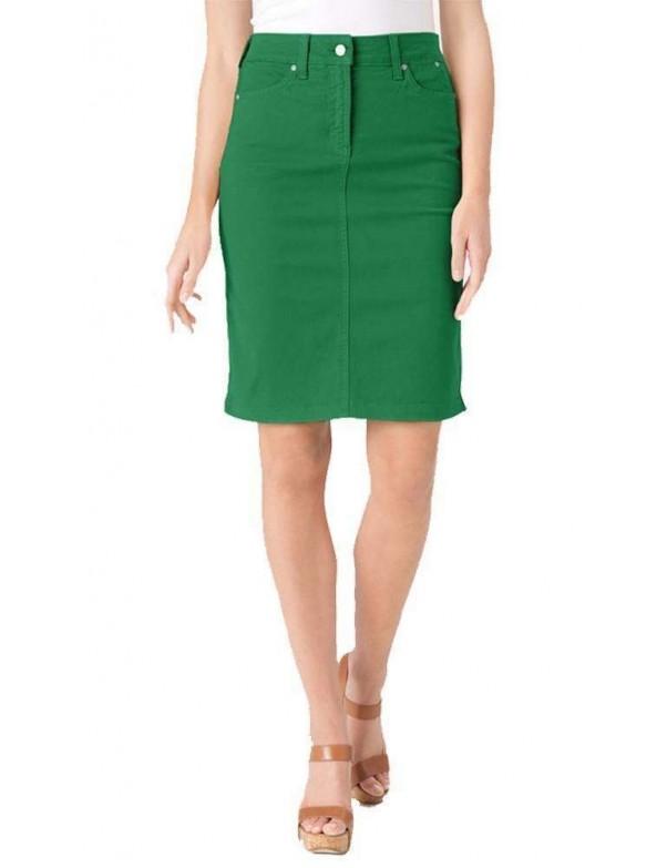 NYDJ - Emma Twill Pencil Skirt - Clover *30561