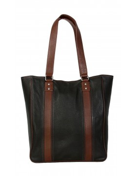 Hadaki - City Tote Bag in Black Leather