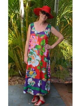 Antica Sartoria - Floral Cotton Sleeveless Dress