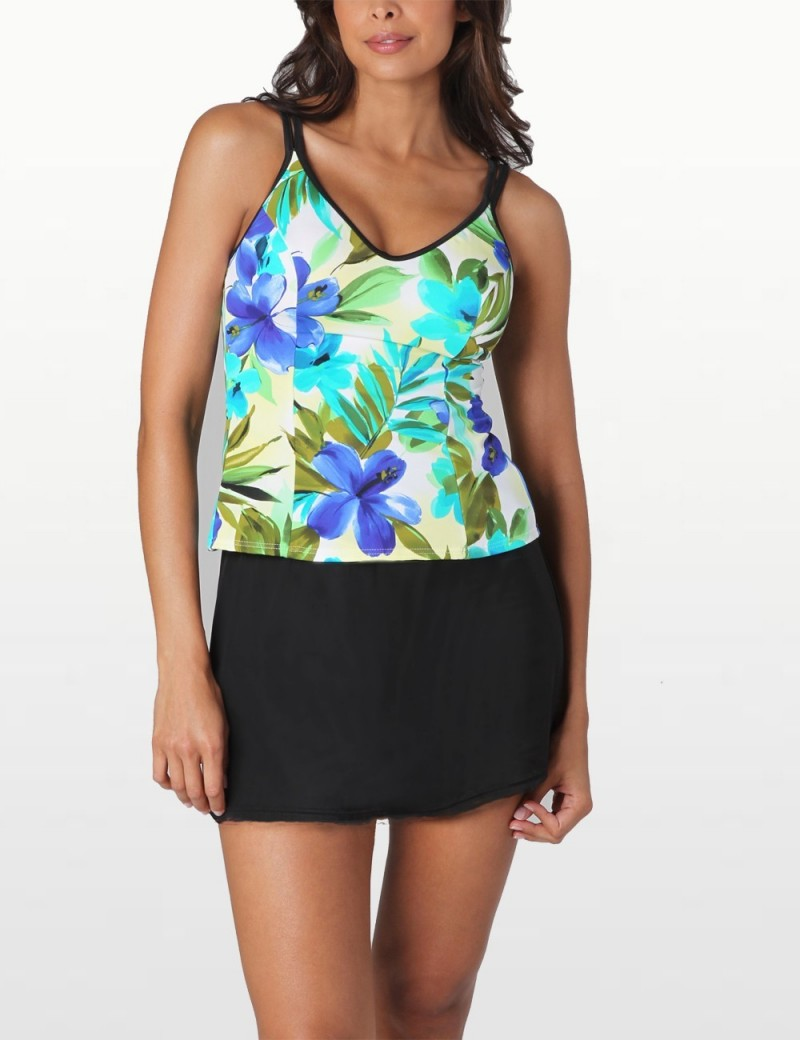 Miraclesuit - Tankini Top with Swim Shorts - Brazillian Sunrise Malibu
