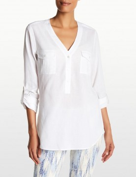 NYDJ - White Outback Linen Top MGAU3247