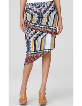 Lyssé - Sedona Print Asymmetric Skirt