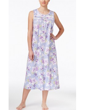 Women's Nightgown - Lilac Floral 100% Cotton