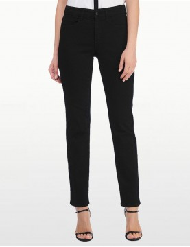 NYDJ - Sheri Slim Leg Jeans - Black with Embroidery *40265DT3214