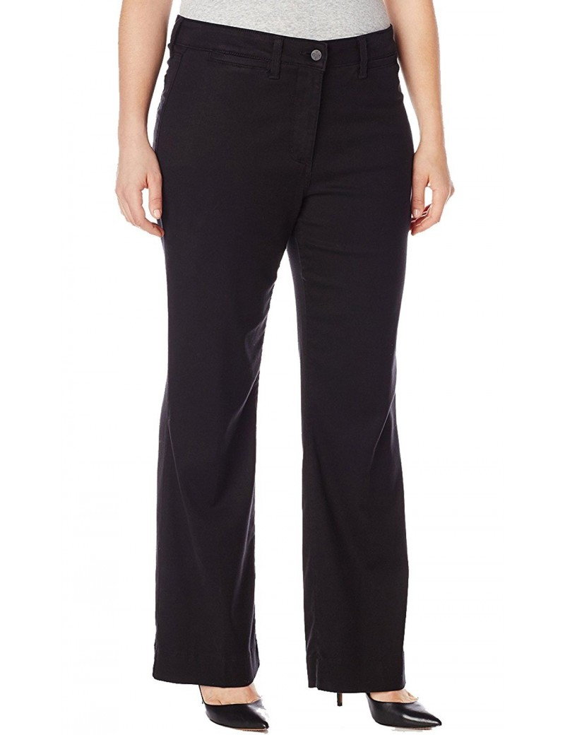 NYDJ - Plus Gillian Trousers in Black Twill  *WILK11DT