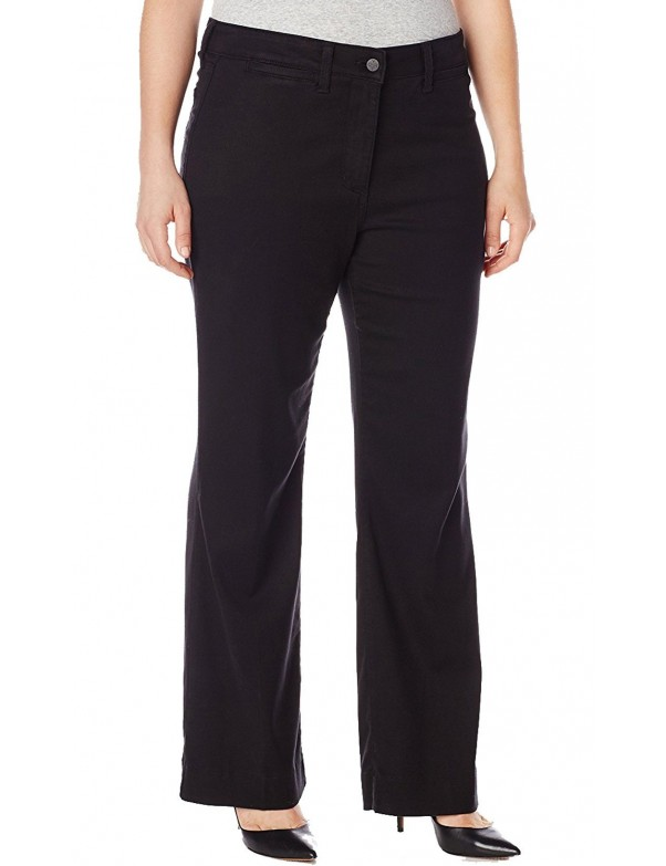 NYDJ - Gillian Trousers in Black Twill ( Plus ) *WILK11DT