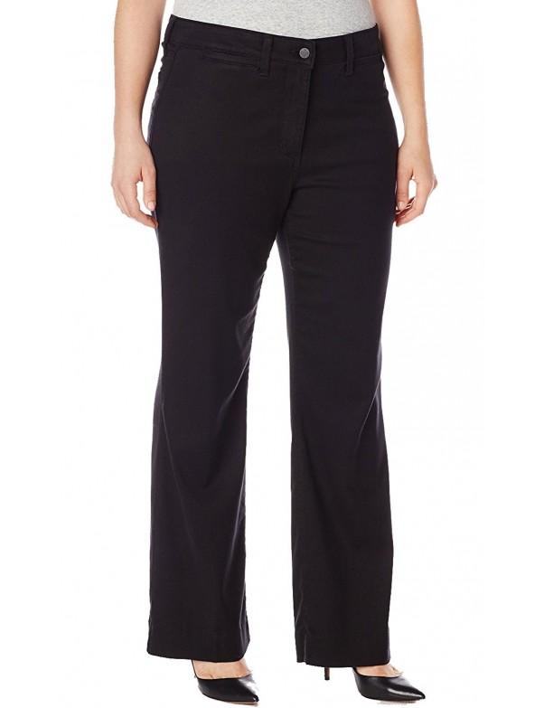 NYDJ - Plus Gillian Trousers in Black Twill  *WILK11DT