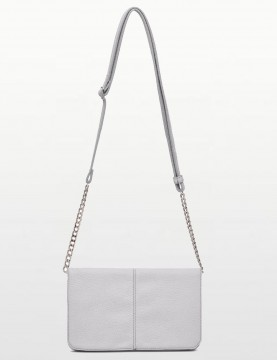 Mighty Purse - Silver Flap Crossbody Chargeing Purse