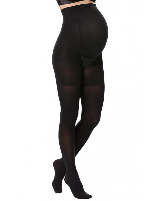 Spanx Mama Black Opaque Tights - Style 20115R