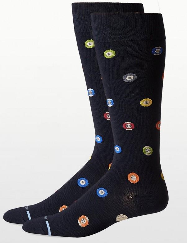 Dr Motion - Mens Compression Socks - Pool Ball Print