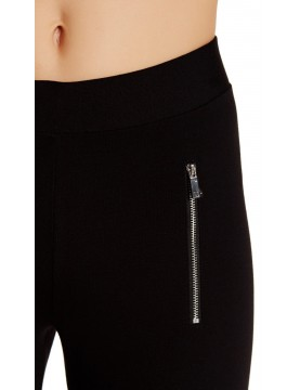 Vince Camuto - Zipper Ponte Pants in Rich Black