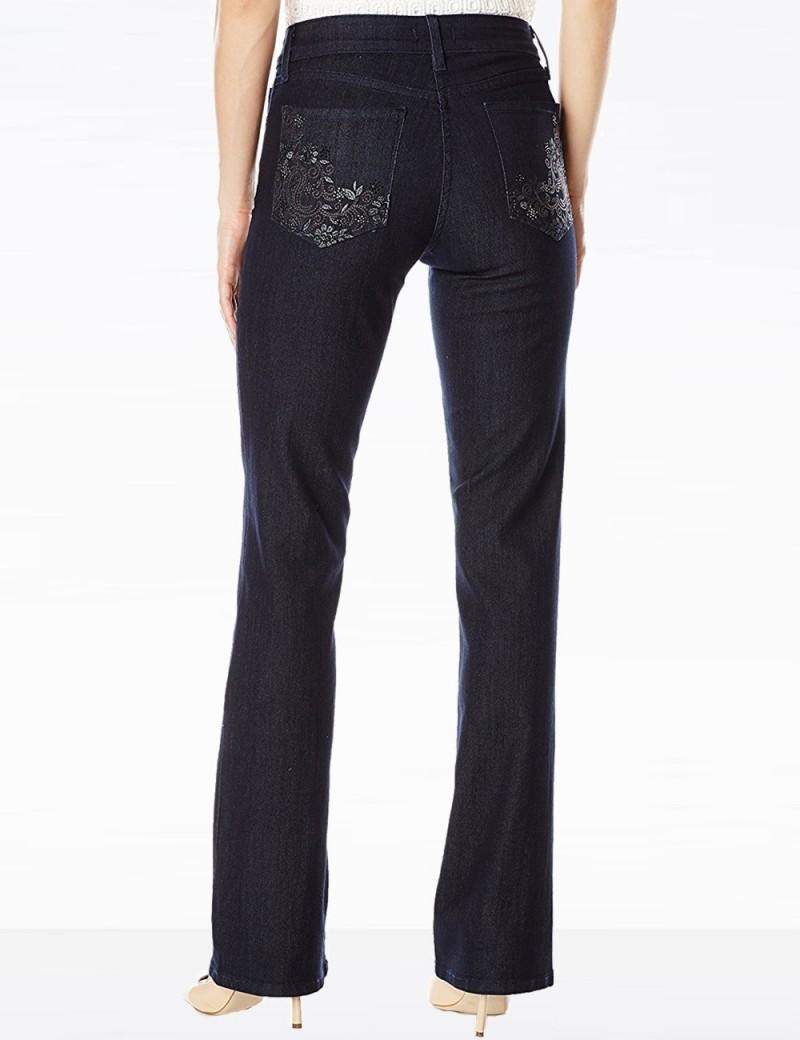 NYDJ - Barbara Embellished Dark Wash Jeans *M10Z1851