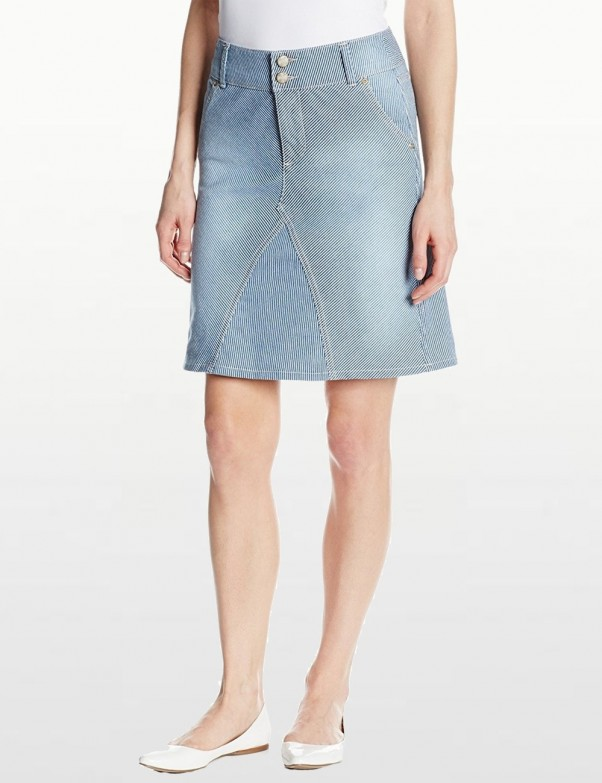 NYDJ - Ray A Line Skirt - Old West Wash *M81E31OW
