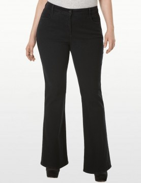 NYDJ - Barbara Bootcut Jeans in Black - Plus *W40Z1078