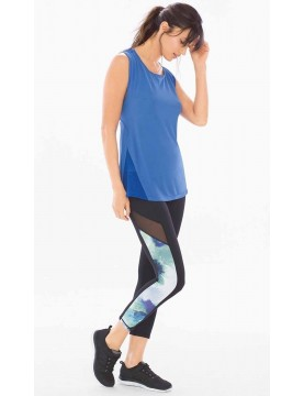 MSP by Miraclesuit - Reversible Mesh Sport Crop Leggings Shades of Blue