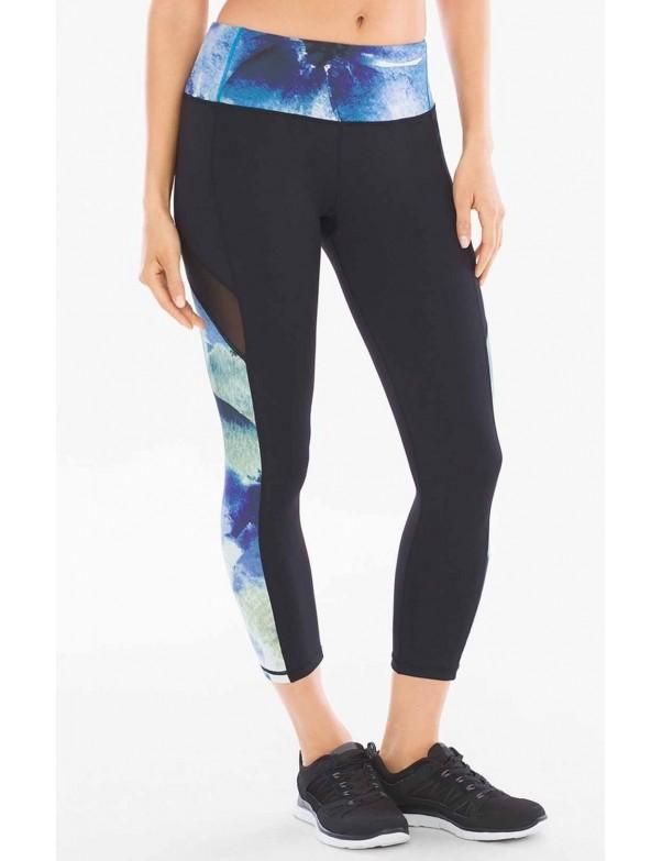 MSP by Miraclesuit - Reversible Mesh Sport Crop Leggings Shades of Blue