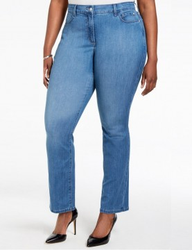 NYDJ - Plus Marilyn Cool Embrace Straight Leg Jeans in Arabian Sea *MANV1425