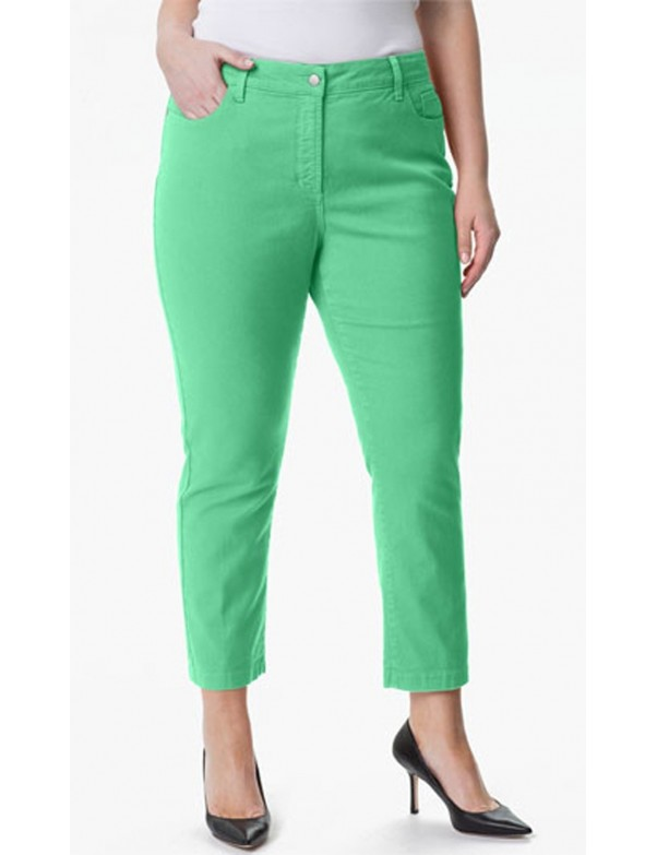 NYDJ - Plus Audrey Ankle Pants in Jade Stone *w77247