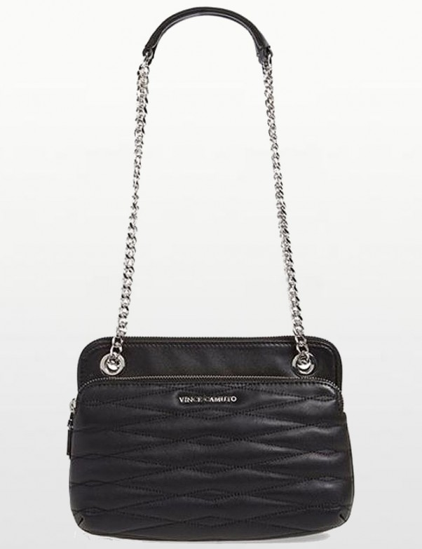Vince Camuto -  Lizel Black Convertible Chain Small Crossbody Bag