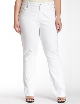 NYDJ - Marilyn Straight Leg Jeans in White ( Plus ) *WAMY1077