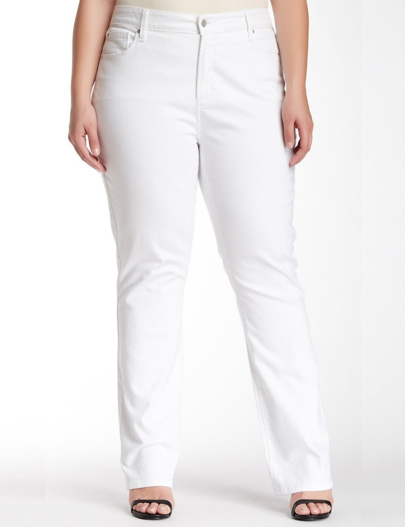 NYDJ - Marilyn Plus Size White Straight Leg Jeans *WAMY1077