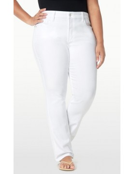 NYDJ - Marilyn Straight Leg Jeans in White - Plus *WAMY1077