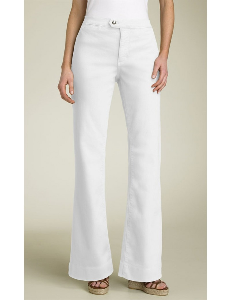 NYDJ - Twill Trousers in White *1544