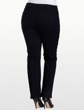 NYDJ - Plus Hayden Straight Leg Jeans in Black *W4063B