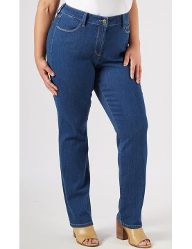 NYDJ - Plus Marilyn Straight Leg Jeans in Summit Wash - WAFN1077