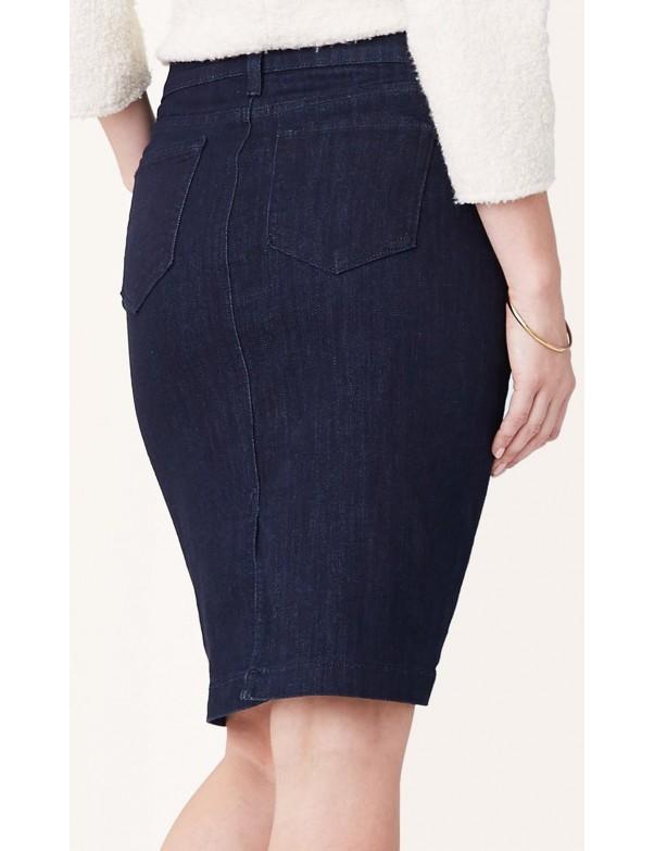 NYDJ - Emma Denim Skirt in Dark Wash *M17Z1872F