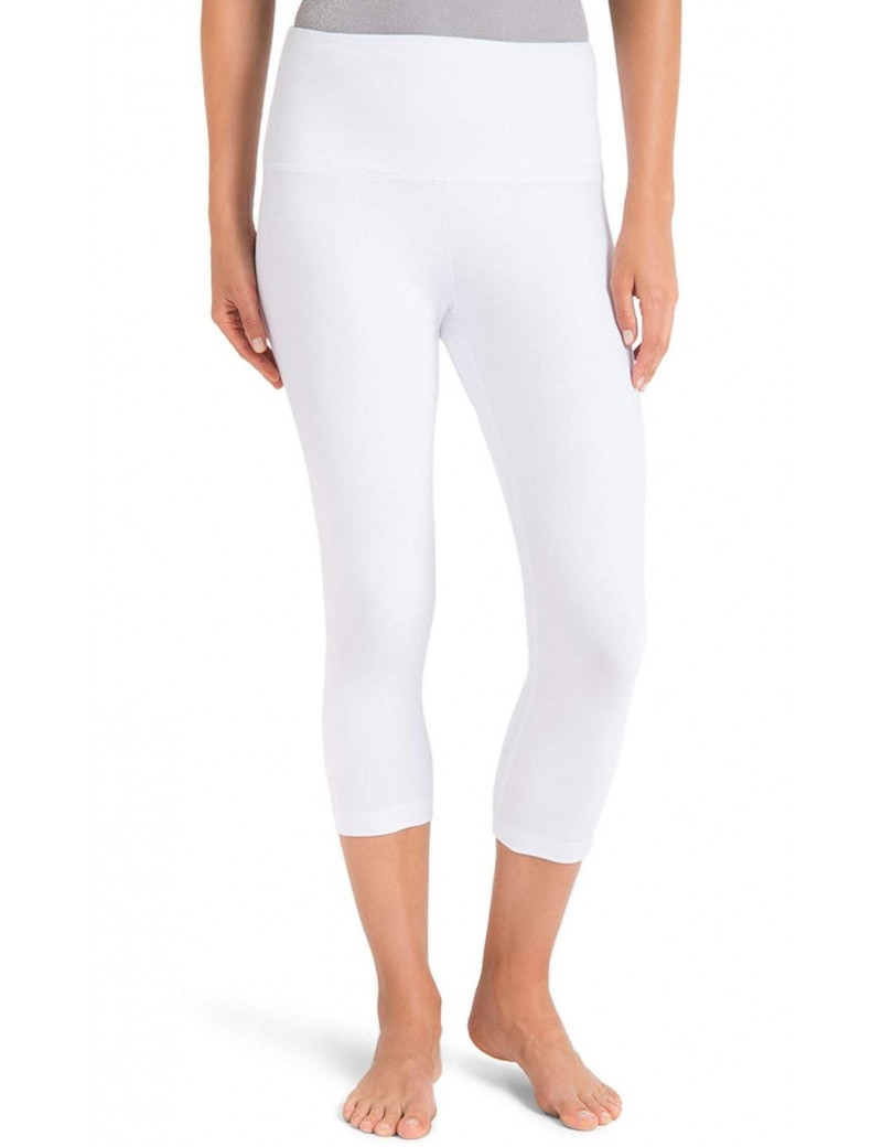 Lysse - Control Top High Waist Capri Leggings in White - Style 11-1215-M1