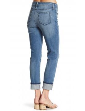 NYDJ - Marnie Boyfriend Jeans with Frayed Hem in Paloma Rip