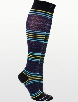 Unisex Sport's Compression Socks in Black & Purple - 15-20mmHG