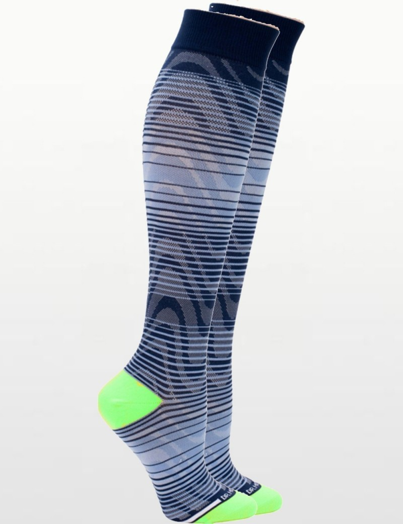 Unisex Compression Socks in Navy & Pale Blue - Perfect for Travel