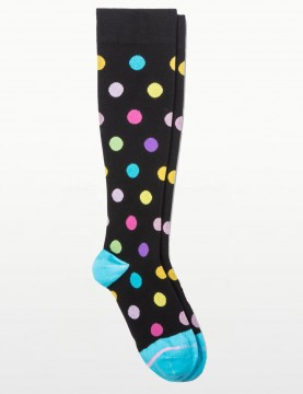 Dr Motion - Spotted Compression Socks in Blue for Tired Legs