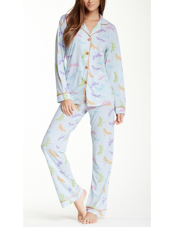 Warm Milk by Bedhead - Womens Dragonflies Pyjama Set
