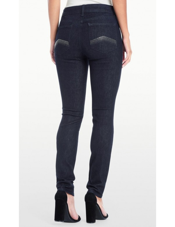 NYDJ - Alina Leggings in Rinse Wash with Embellished Pockets *MDNM2126
