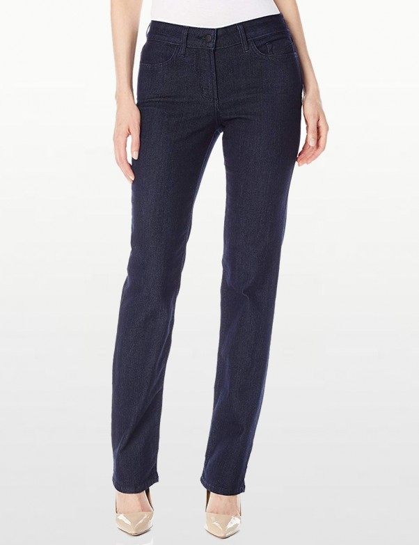 NYDJ - Hayley Straight Leg Jeans in Dark Wash *M10K43T1338