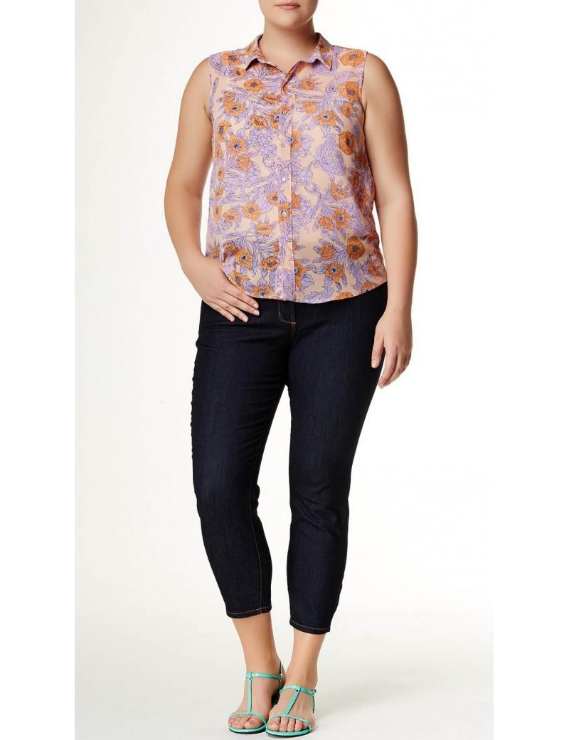 NYDJ - Clarissa Ankle Jeans in Dark Wash - Plus *W10Z1085