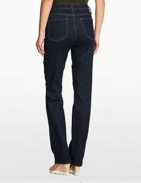 NYDJ - Marilyn Straight Leg Jeans in Blue Black Denim for Petites *P731 - P731T