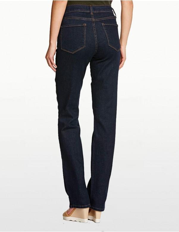 NYDJ - Marilyn Straight Leg Jeans in Blue Black Denim ( Petites ) *P731