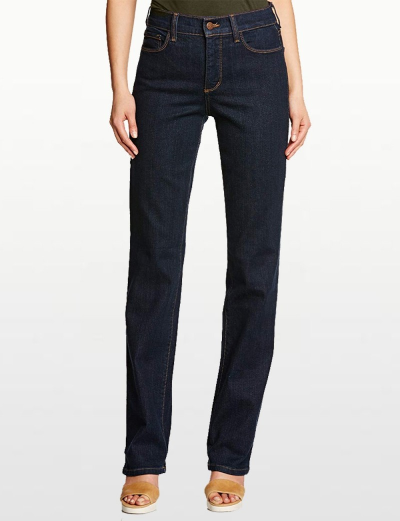 NYDJ - Marilyn Straight Leg Jeans in Blue Black Denim *731 - 731T