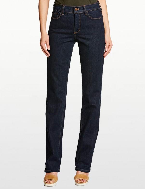 NYDJ - Marilyn Straight Leg Jeans in Blue Black Denim *731 - 731T