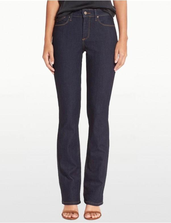 NYDJ - Billie Mini Bootcut Jeans in Dark Wash with Contrast Stitching *M10K25B
