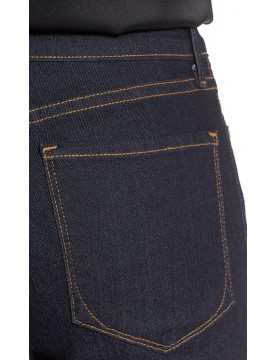NYDJ - Billie Mini Bootcut Jeans in Dark Wash with Contrast Stitching *M10K25B