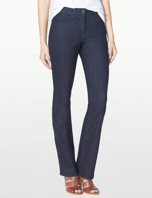 NYDJ - Billie Mini Bootcut Jeans in Dark Wash with Tonal Stitching *M10K25T