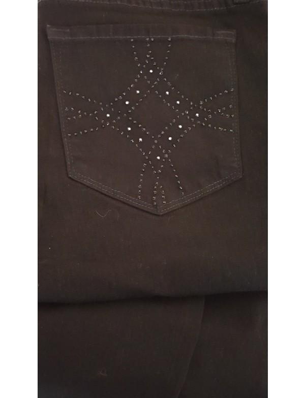NYDJ - Marilyn Black Embellished Straight Leg Jeans *P431B600 - petite