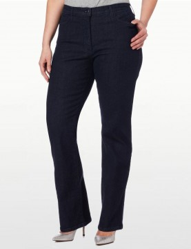 NYDJ - Marilyn Straight Leg Jeans in Blue Black - Plus *W731 - W731T
