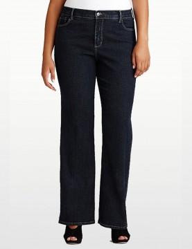 NYDJ - Barbara Bootcut Jeans in Blue Black Denim - Plus *W47232